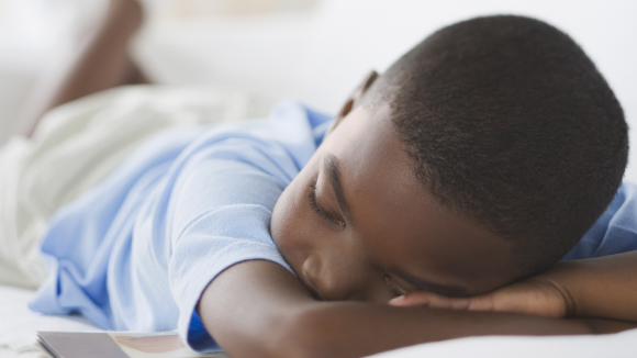 Boy sleeping image